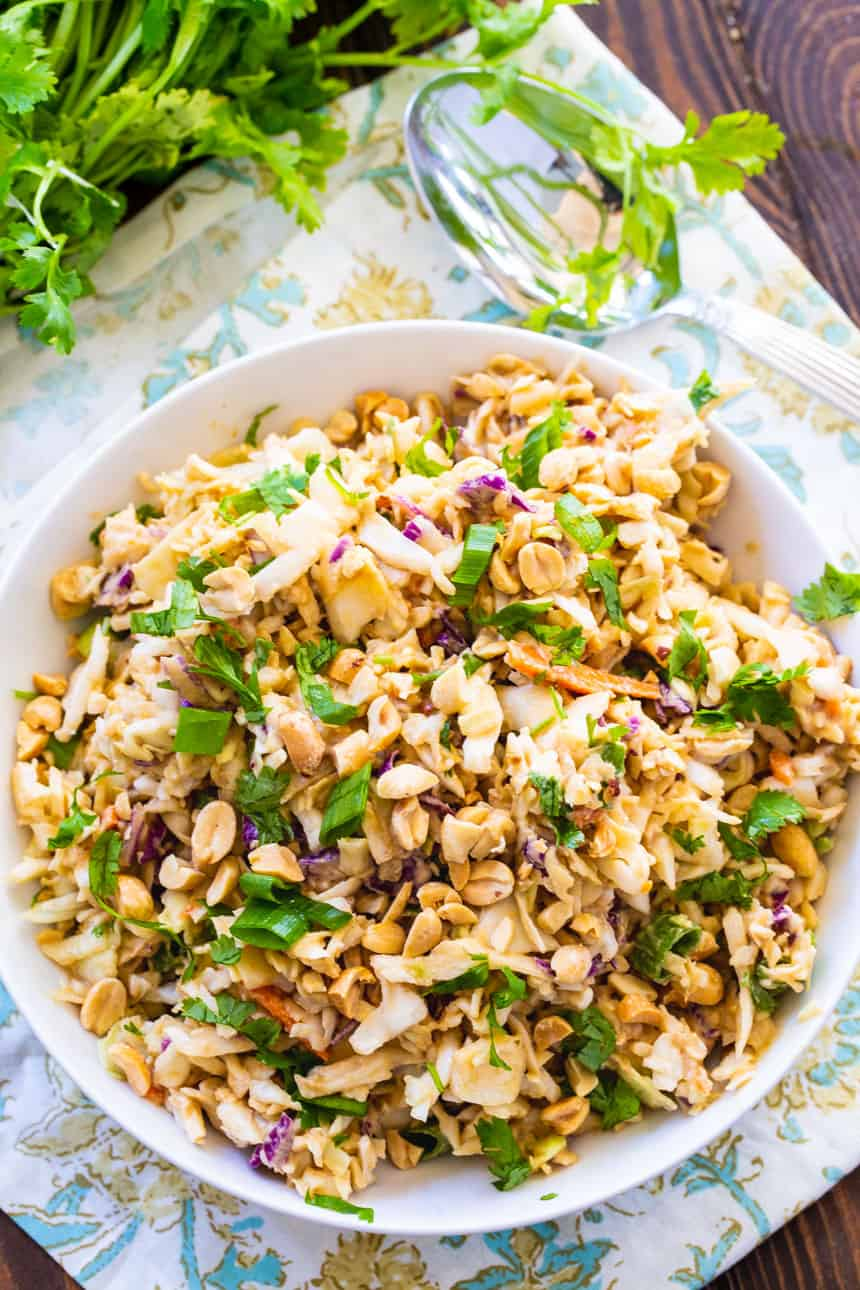 Low Carb Coleslaw with Peanut Dressing