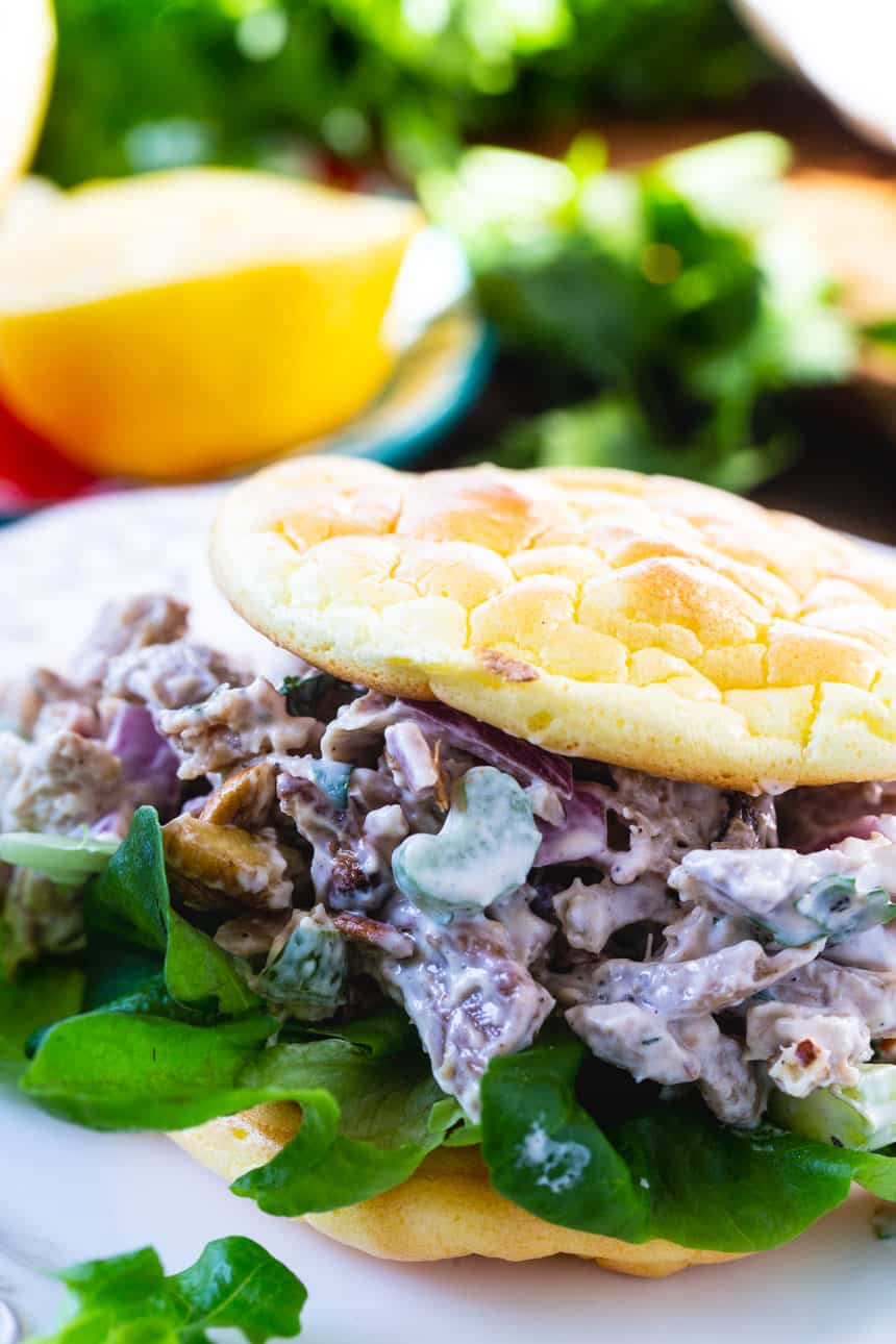 Keto Roasted Chicken Salad Sandwich