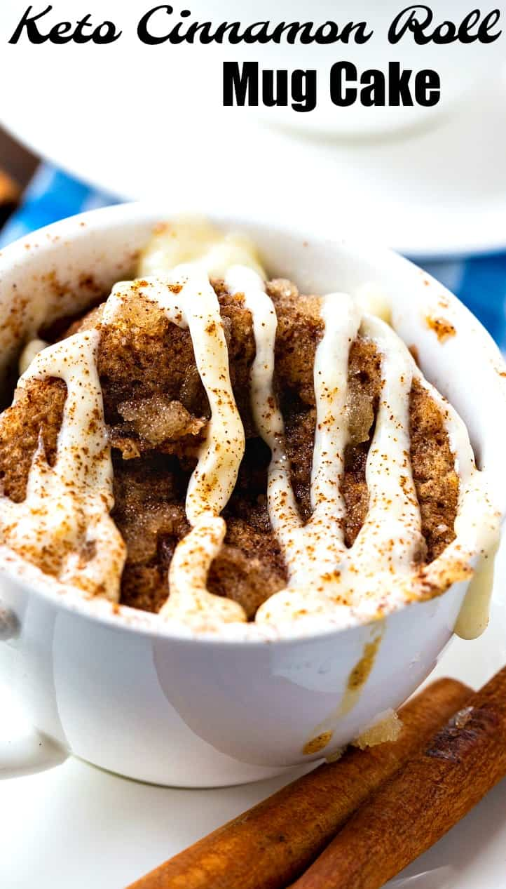 close-up of Cinnamon Rolls Mug Cake