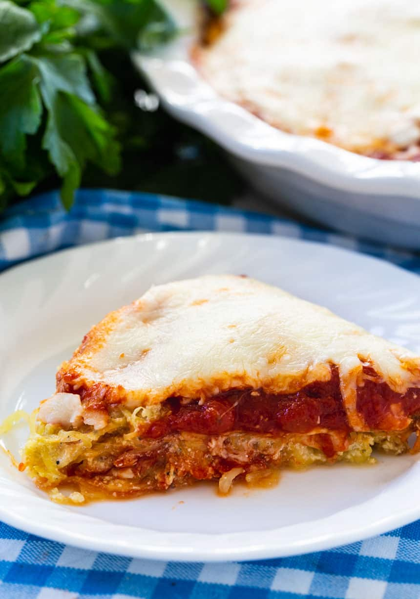 Low Carb Spaghetti Pie slice