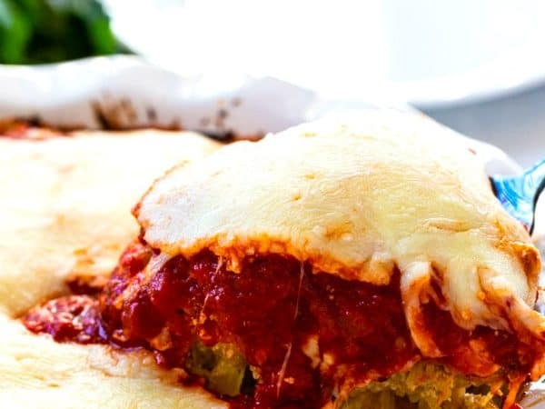Low Carb Spaghetti Pie (vegetarian)