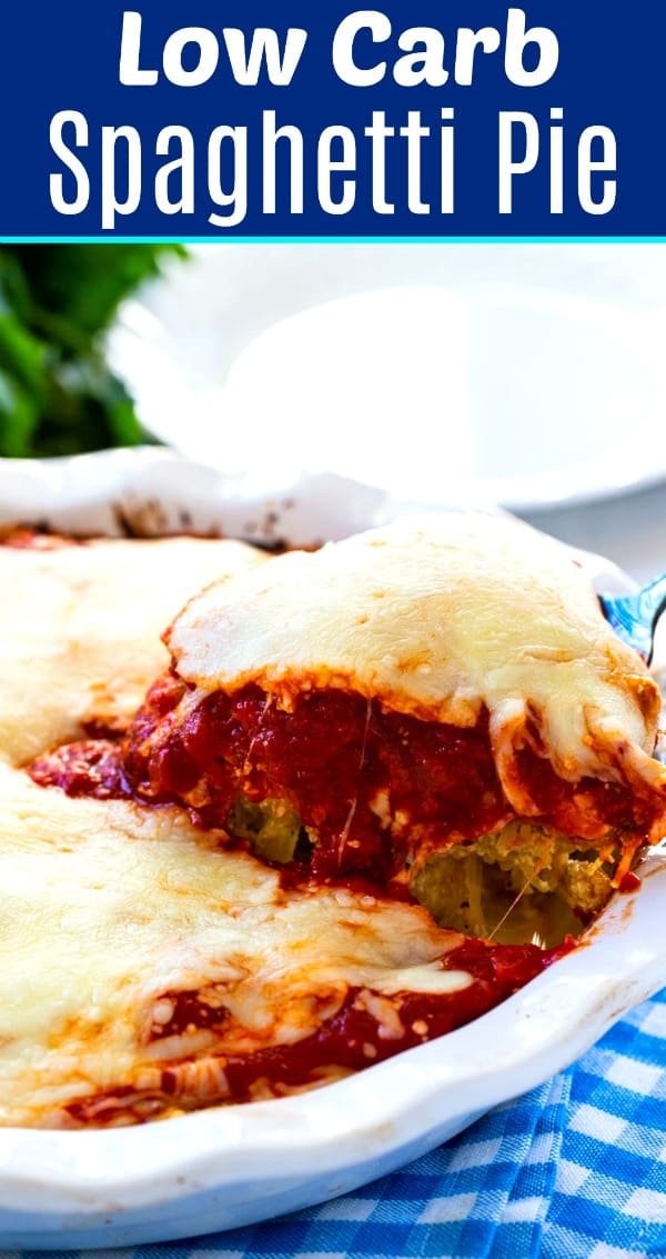 Low Carb Spaghetti Pie (vegetarian)