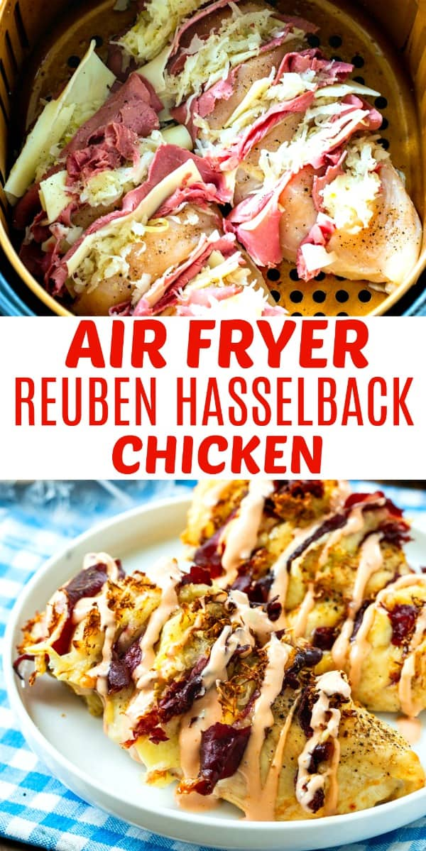 Air Fryer Hasselback Reuben Chicken