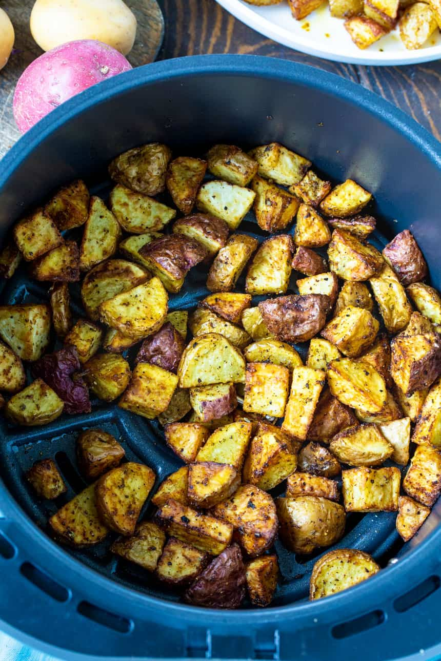Cajun Potatoes in an air fryer.