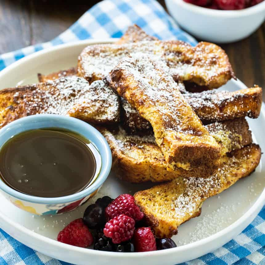 French Toast Sticks on a plate.