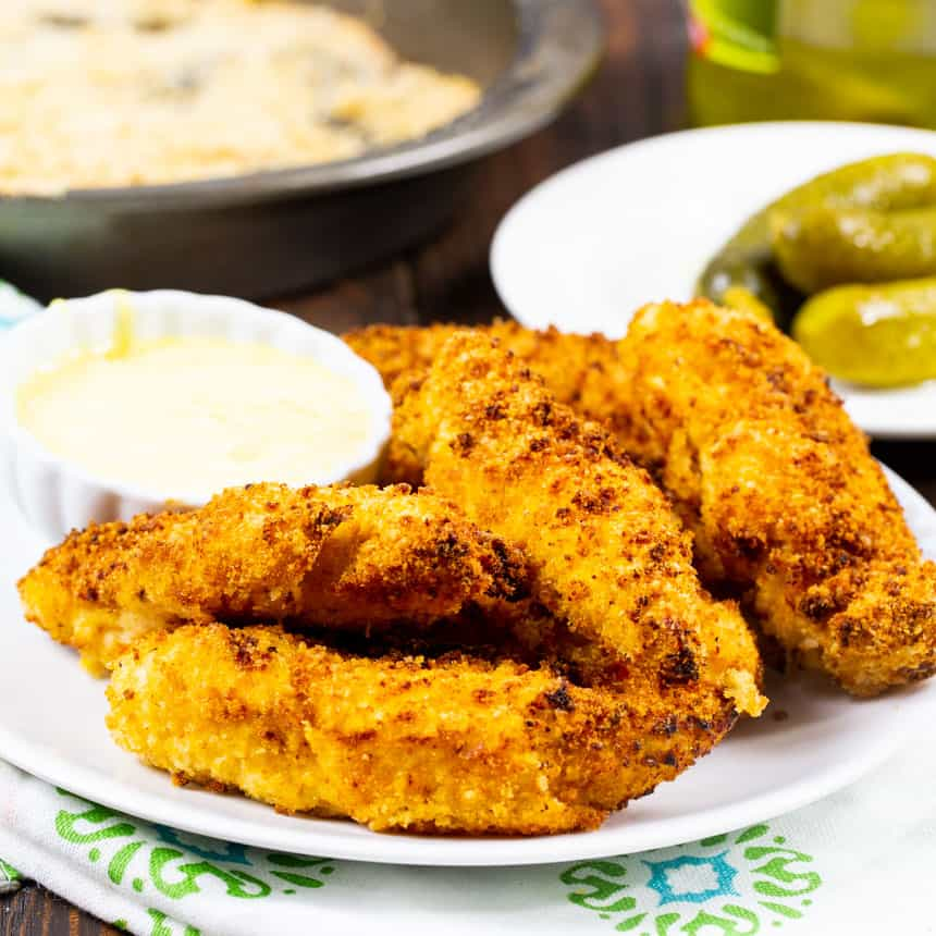 Chicken Fingers on a plate.