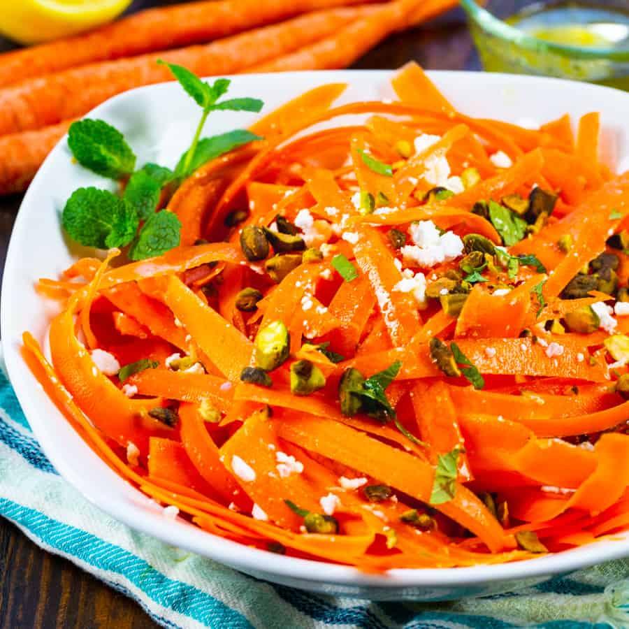 Carrot Feta Salad in a bowl.