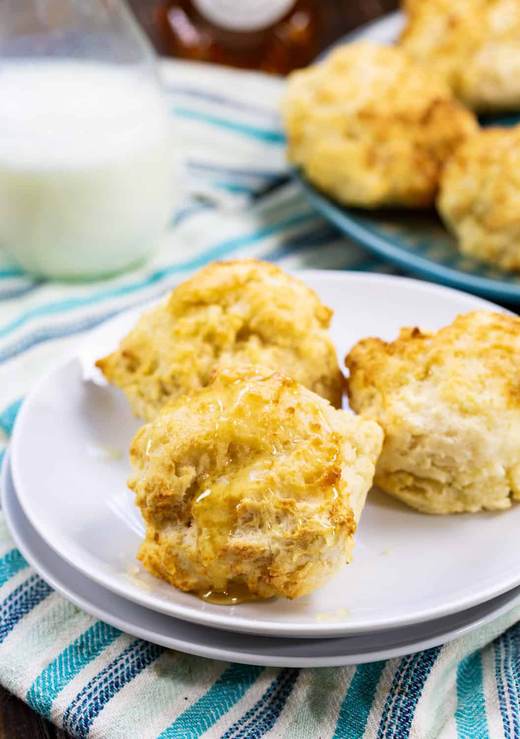 Drop Biscuits on a plate.